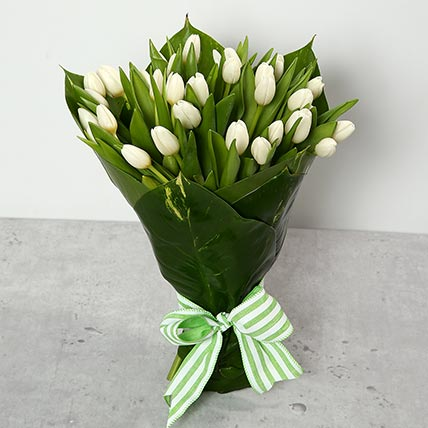 White Tulips Bouquet: Tulip Flowers