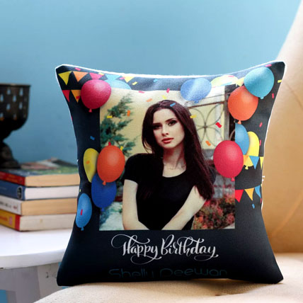 Personalised Birthday Balloons Cushion: Gifts