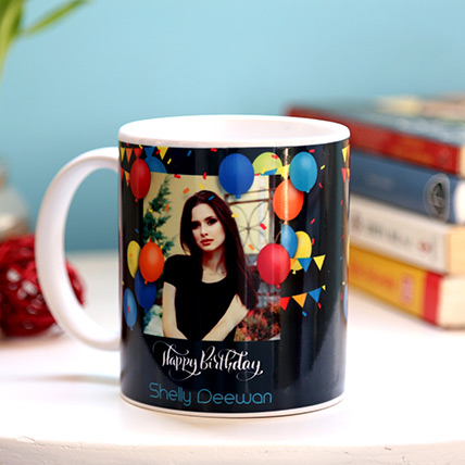 Personalised Birthday Balloons Mug: Personalised Gifts for Mother
