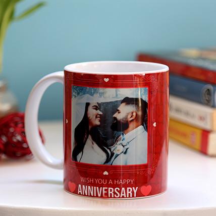 Personalised Anniversary Red Heart Mug: Personalized Mugs Dubai