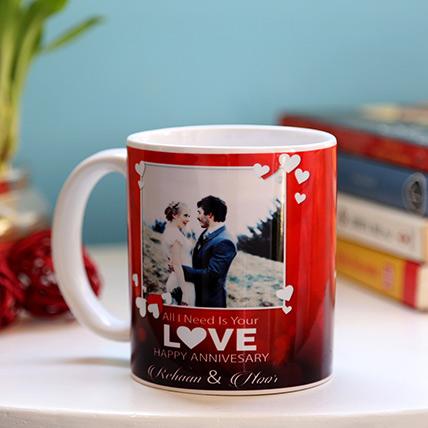 Personalised Anniversary Love Mug: Anniversary Mugs