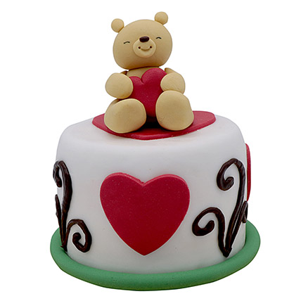 Teddy Cake For Valentines Day: Valentine Day Cakes for Husband