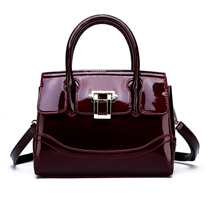Adjustable Strap Leather Shoulder Bag: