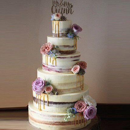 Beguiling 6 Tier Wedding Cake 14 Kg: Premium Cakes