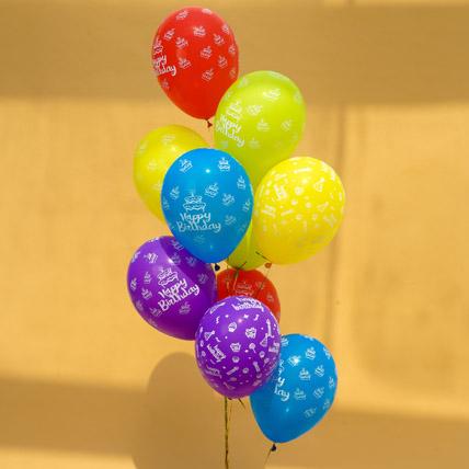 Happy Birthday Helium Balloons: Birthday Gift For Husband