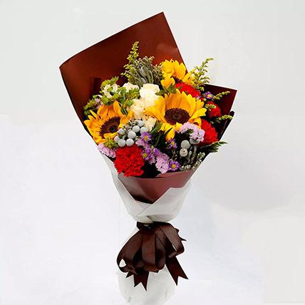 Joyful Bouquet Of Mixed Flowers: Eid Flowers