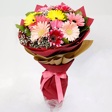 10 Gerbera Flowers Bouquet: