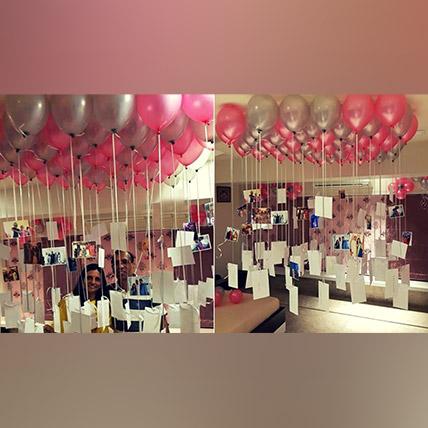 Personalised 50 Helium Balloon Surprise: Helium Balloons Dubai