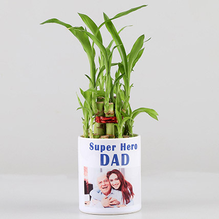 2 Layer Bamboo in Personalised Super Hero Dad Mug: Fathers Day Personalised Gifts