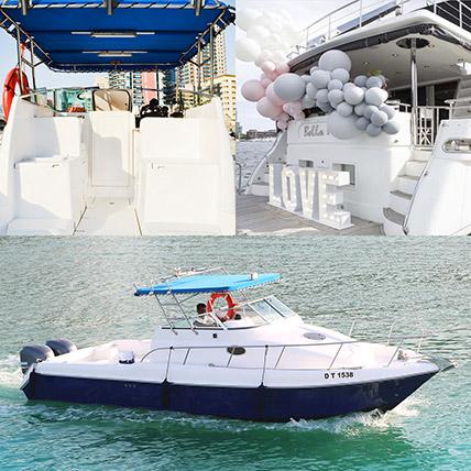 ASFAR 1 Boat With Balloon Decor Online: Party Supplies