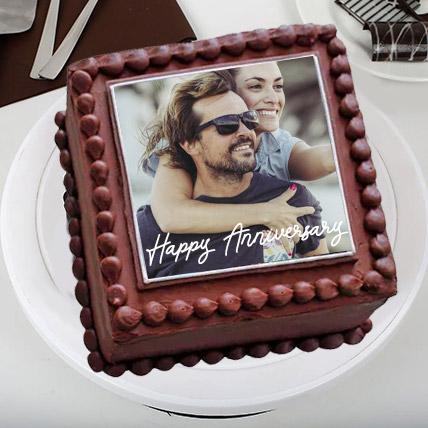 Enticing Love Photo Cake: Eggless Cakes