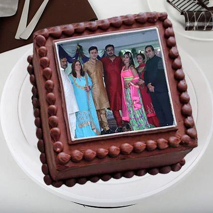 Square Photo Cake: Photo Cakes for Anniversary