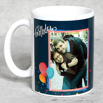 White Personalised Birthday Mug: Personalized Gifts