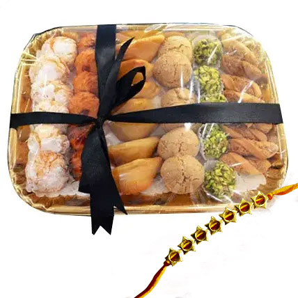 Rakhi with Sweet Platter:  Rakhi Delivery