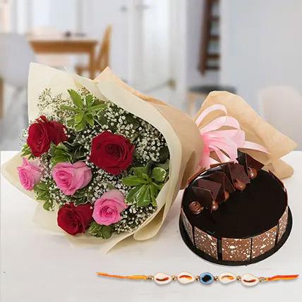 Sweet combo for bhaiya: Rakhi With Cakes