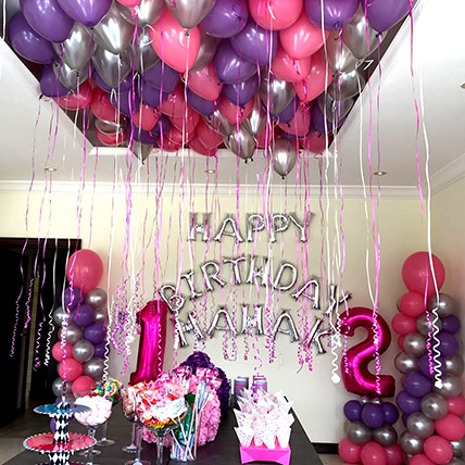 Balloons & Floral Birthday Surprise: Experiential Gifts