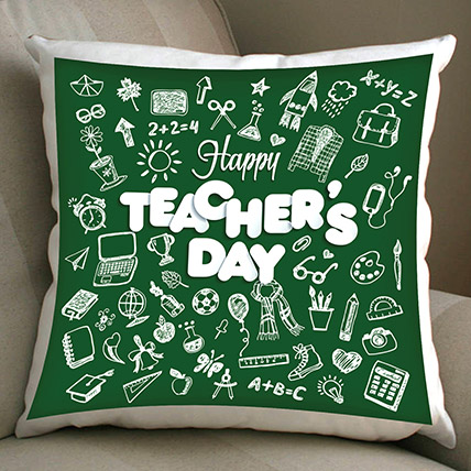 Happy Teachers Day Cushion: Gifts For Teacher's Day