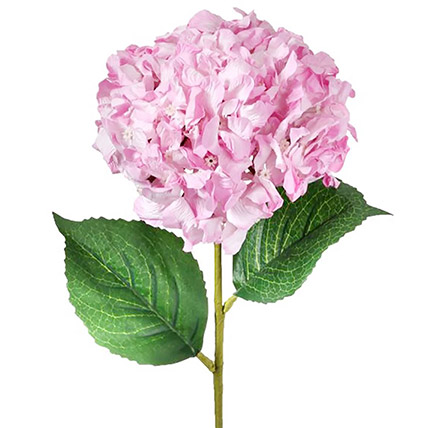 Bunch of 5 Pink Artificial Hydrangea: Artificial Flowers