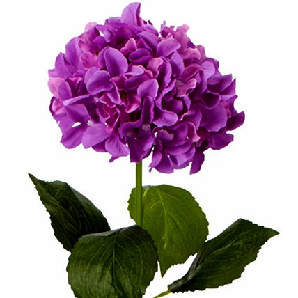 Bunch of 5 Artificial Purple Hydrangea: Artificial Flowers