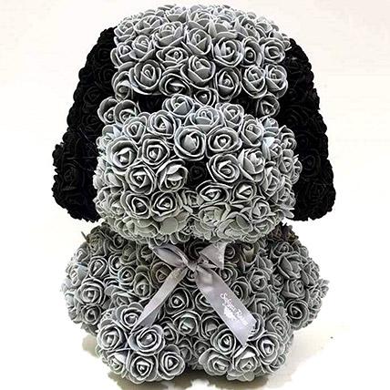 Artificial Grey Roses Dog: