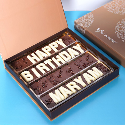 Customized Happy Birthday Chocolate: Birthday Gift for Husband
