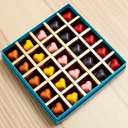 Colourful Heart Chocolates: