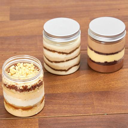 Jar Cakes Tempting Trio: