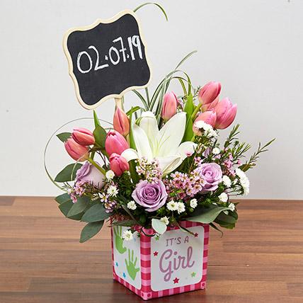 Pastel Flowers Arrangement: New Born Flowers