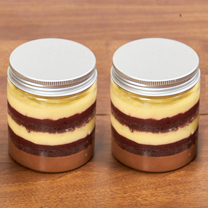 Set of 2 Yummylicious Black Forest Jar Cakes: