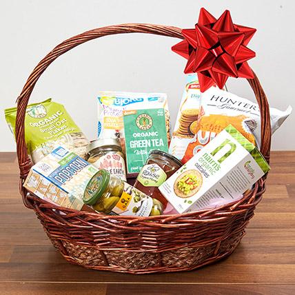 Mint Green Tea and Snacks Basket: Tea and Coffee Hampers