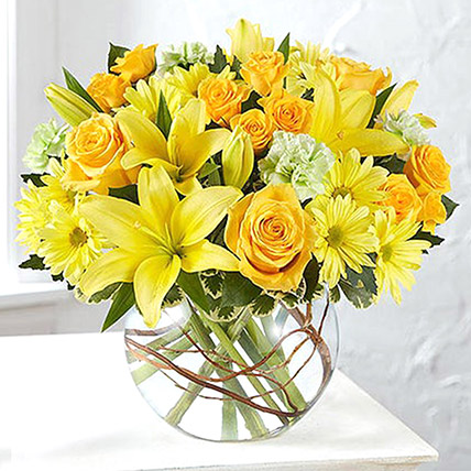 Bowl Of Happy Flowers: Get Well Soon Flowers
