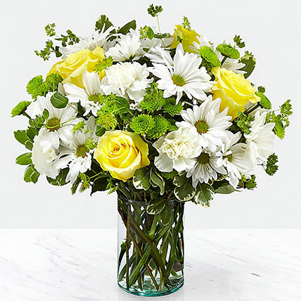 Vase Of Happy Flowers: Fathers Day Flowers to Sharjah