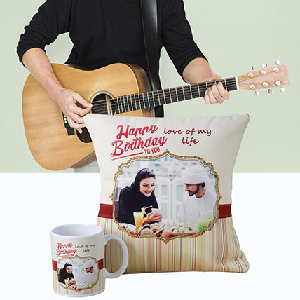 Personalised Musical Gift: Flowers & Guitarist Service