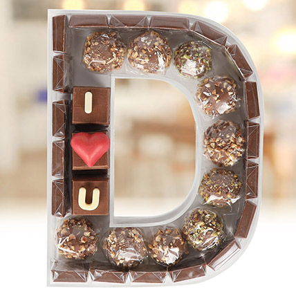 The Letter Collection Chocolates I Love You D: