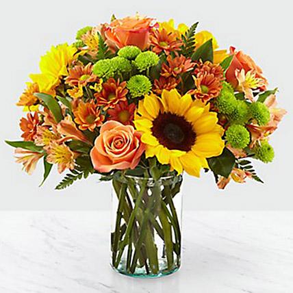 Colours Of Life Flower Vase: Halloween Flowers