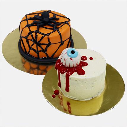 Halloween Mono Cakes Combo: Halloween Themed Cakes