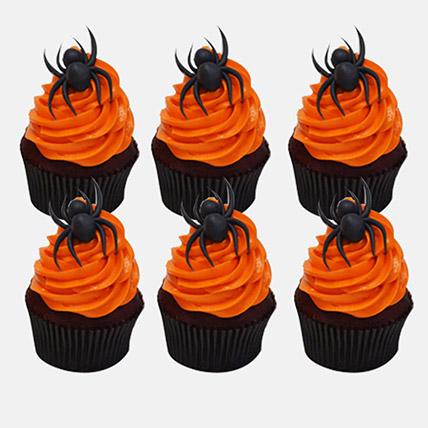 Halloween Spider Cupcakes 6Pcs: Spiderman Cakes