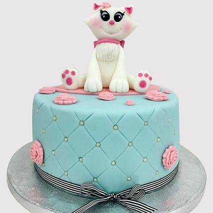 Designer Cat Fondant Cake: Cat Cakes