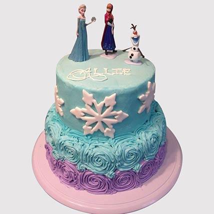 2 Layered Frozen Theme Cake: Frozen Cake