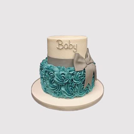 Baby Bow Cake: Newborn Baby Cake