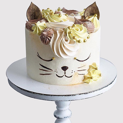 Cute Cat Fondant Cake: Cat Birthday Cakes