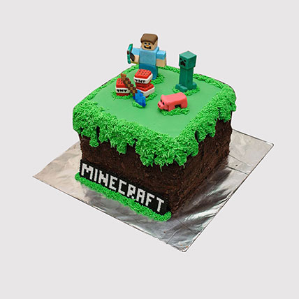 Designer Minecraft Themed Cake: Minecraft Birthday Cakes