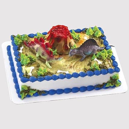 Dinosaur and Volcano Cake: Dinosaur Theme Cakes