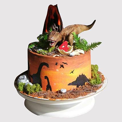 Dinosaur Land Cake: Dinosaur Theme Cakes