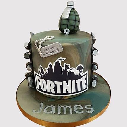 Fortnite Fondant Grenade Cake: Fortnite Birthday Cakes