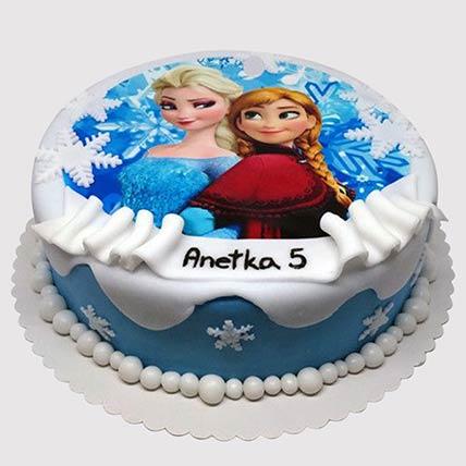 Frozen Elsa and Anna Cake: Frozen Cake
