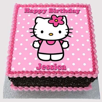 Hello Kitty Pink Cake: Hello Kitty Cake