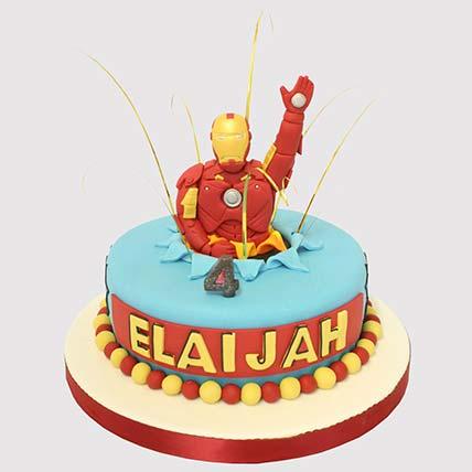Iron Man Surprise Cake: Iron Man Birthday Cake