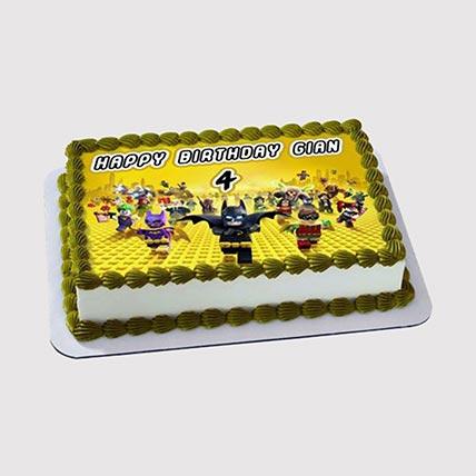 Lego Super Heroes Photo Cake: Lego Birthday Cakes