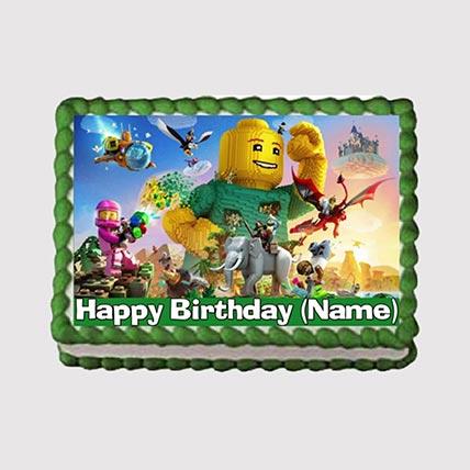 Lego Theme Photo Cake: Iron Man Birthday Cakes